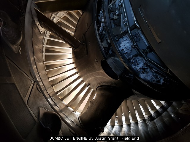 JUMBO JET ENGINE by Justin Grant, Field End