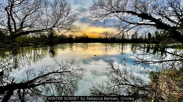 WINTER SUNSET by Rebecca Berman, Croxley